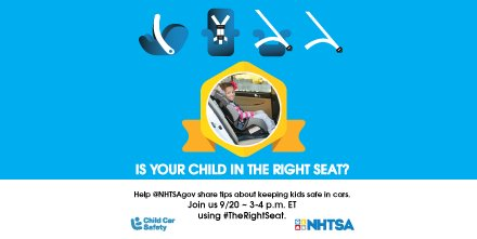 Is your child in the right seat?